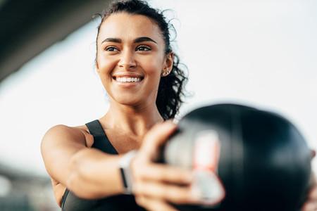 Beautiful woman exercising