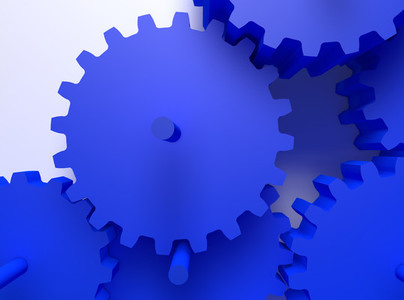 concept illustration abstract workflow machine gear cooperation