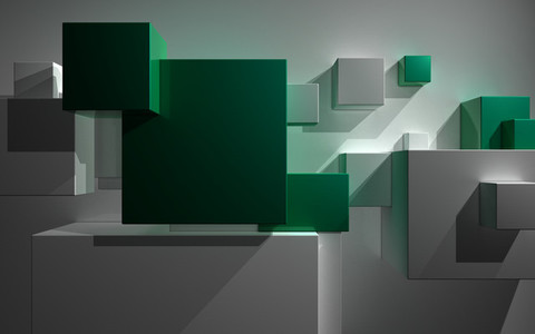 abstract architecture minimal block presentation green city