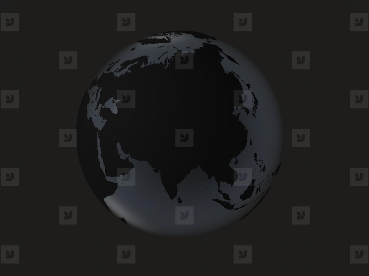 black globe     asia