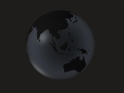 black globe     asia  oceania