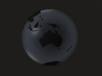 black globe     australia  oceania