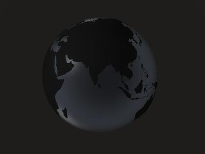 black globe     asia  india