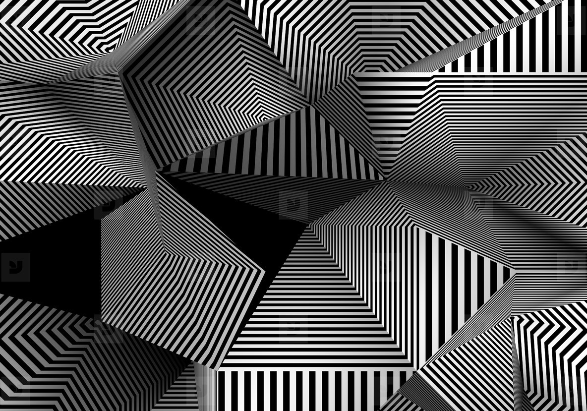 lines moving abstract pyramid