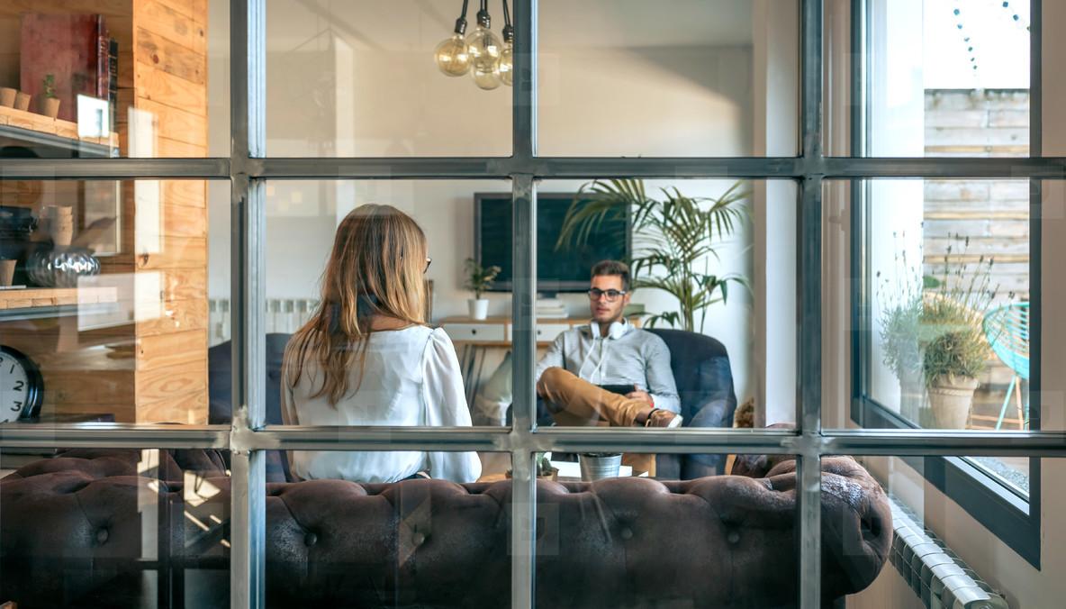 People in an informal business meeting