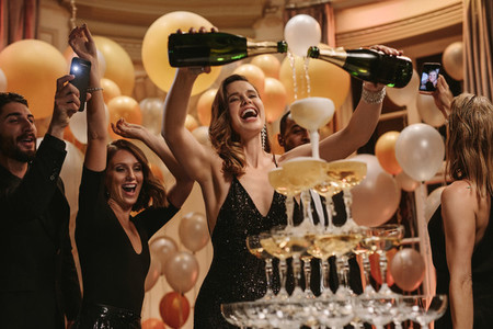Socialites having a great time at new years party