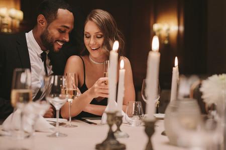 Beautiful couple at a gala night