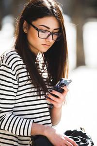 Beautiful model talking on the phone