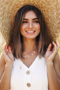 Beautiful cheerful woman