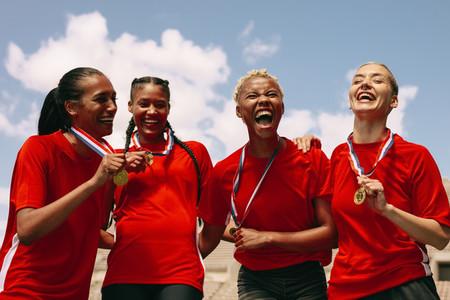 Female soccer championship winners
