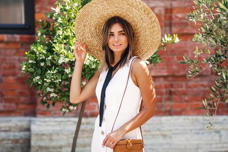 Beautiful stylish woman walking
