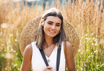 Beautiful young woman standing