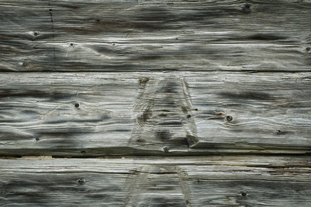 Background of old gray wooden boards