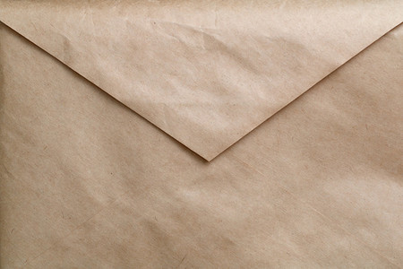 Old envelope of kraft paper  Full frame