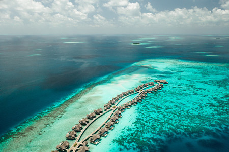 Aerial view of a luxury resort