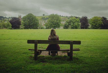 Girl in a bench