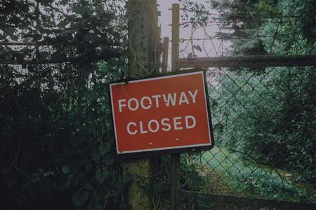 Footway closed