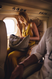 Woman on a luxury travel