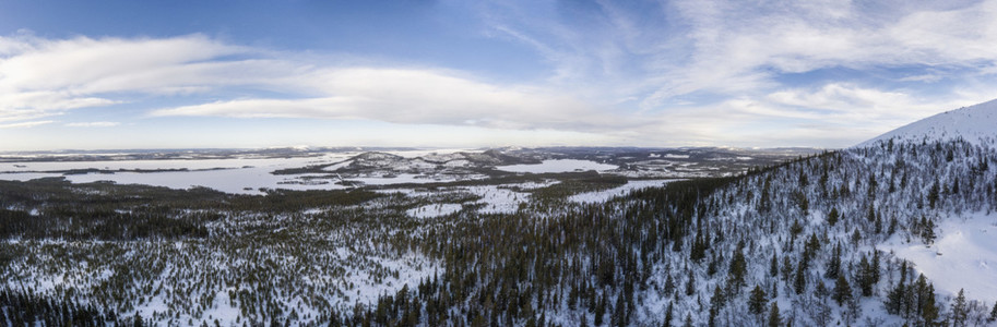 Scenic view snowy landscapen