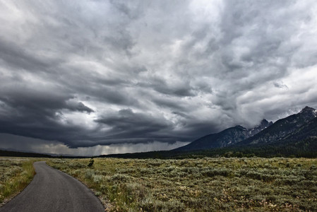 Dramatic stormy sky over landscape
