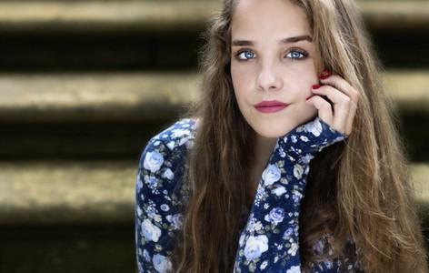 Portrait beautiful teenage girl