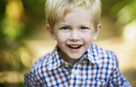 Close up portrait happy boy