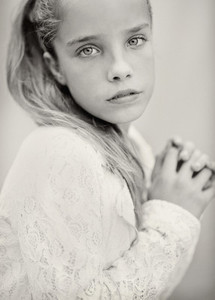Portrait beautiful serious teenage girl