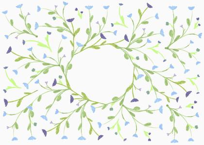 Flower laurel pattern on white background