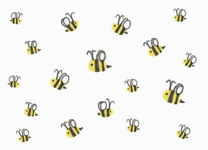 Bumblebees on white background
