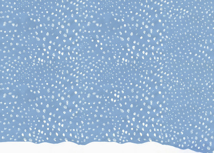 Illustration snow falling in blue sky