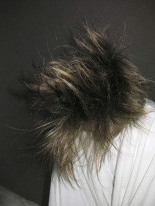 Woman flipping hair