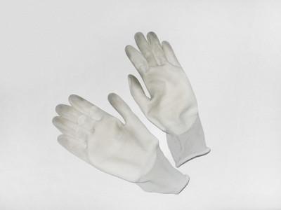 Gardening gloves against white background