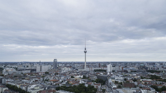 Television Tower and Berlin cityscape
