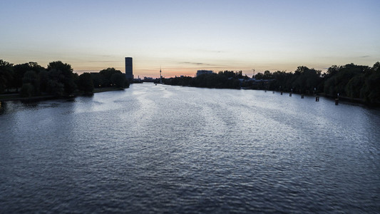 Twilight sky over Spree River