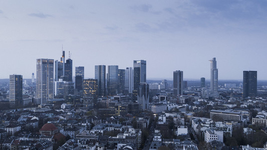 Frankfurt skyscrapers and cityscape