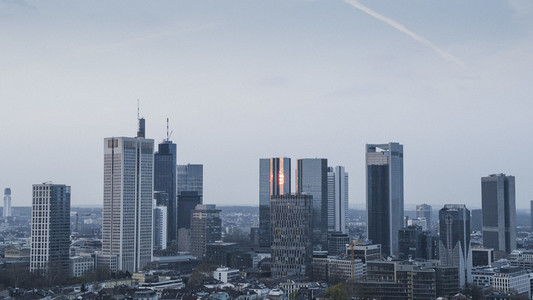 Frankfurt skyscraper buildings and cityscape