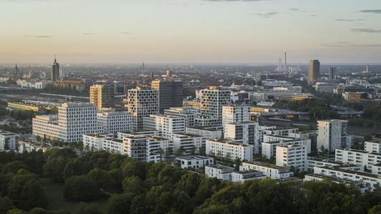 Munich cityscape and Hirschgarten