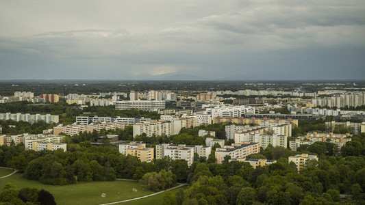 Munich buildings and Ostpark