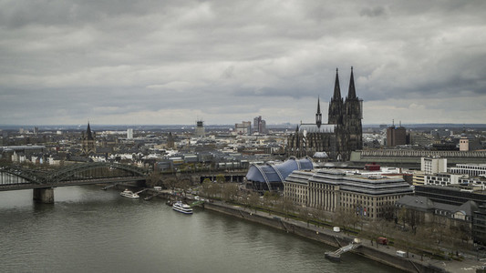 Cologne Cathedral and cityscapey