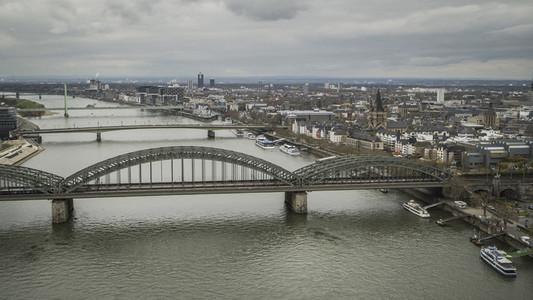 Hohenzollern Bridge over Rhine River