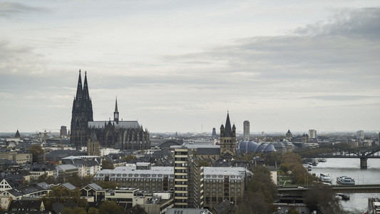 Cologne Cathedral and cityscape