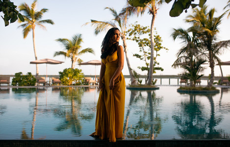 Luxury travel experience at a tropical resort