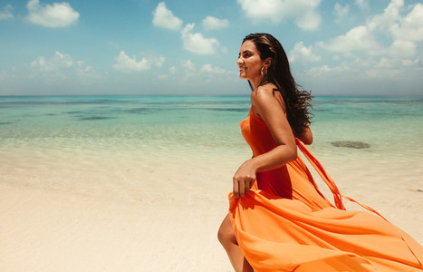 Fashionable summer clothes for a beach holiday