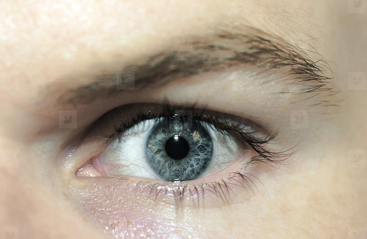 Man s Eye  Blue