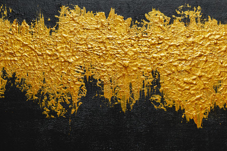 Abstract acrylic background with black and gold texture pallete