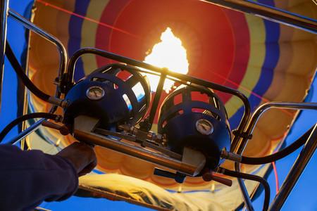 Captive balloons in Aeroestacion Festival in Guadix