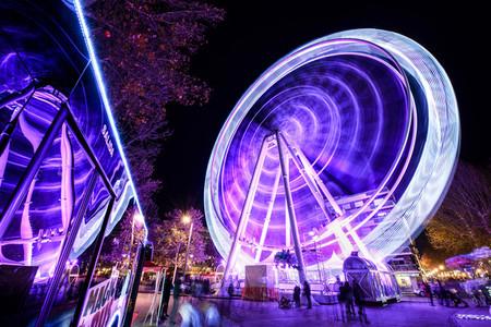 GRANADA ANDALUSIA SPAIN DECEMBER 30TH 2019 Ferris wheel at night