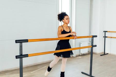Woman in dancewear