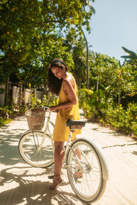 Eco friendly bike to explore a tropical holiday destination