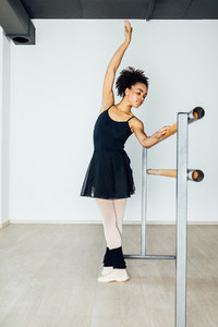 Young artist practicing ballet